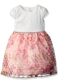 Nannette Toddler Girls' Tie Back Cap Sleeve Organza Dress