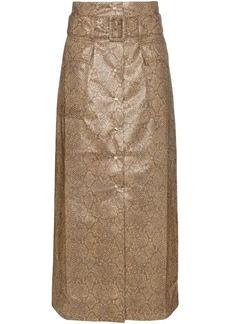 Nanushka Aarohi snake-effect midi skirt