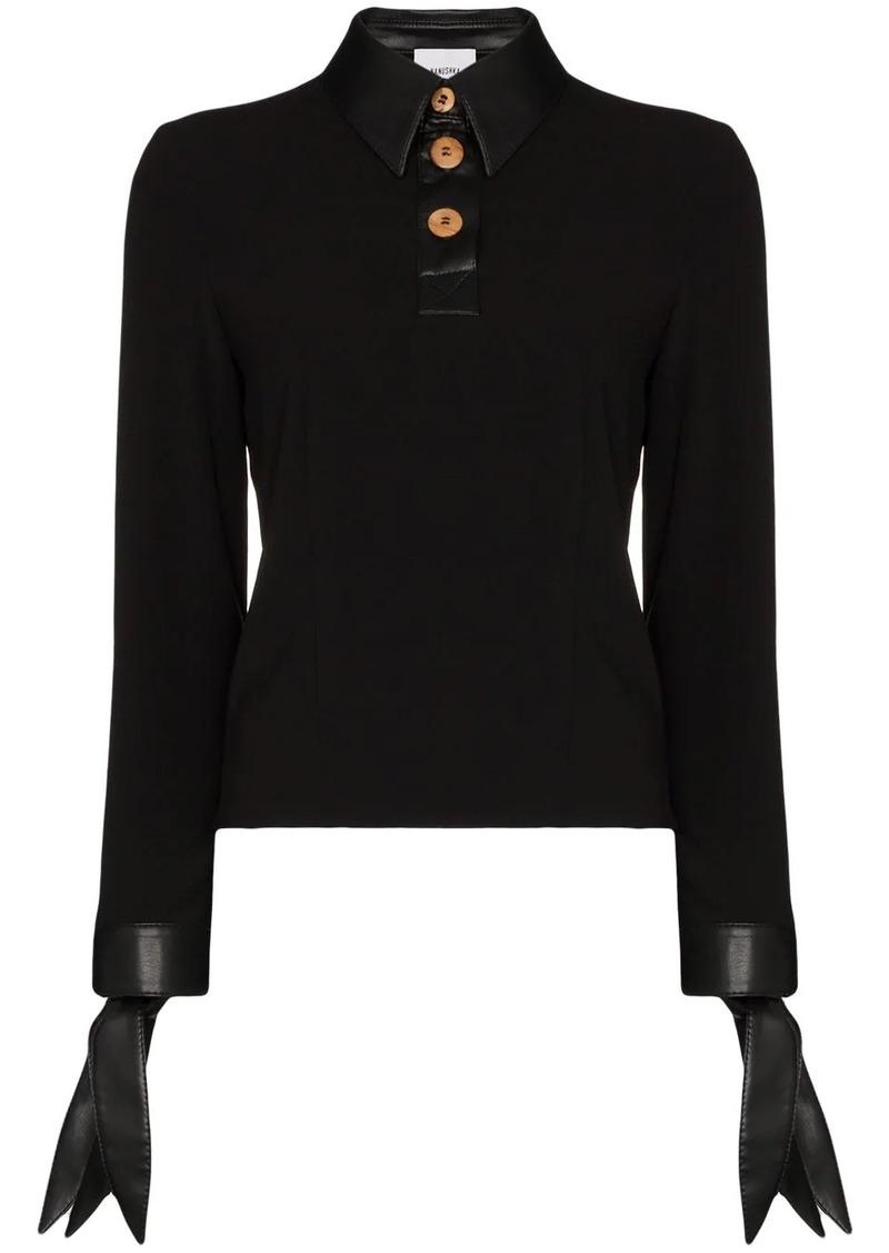 Nanushka Agnes buttoned blouse