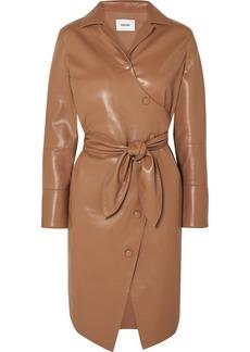 Nanushka Ailsa Vegan Leather Wrap Dress
