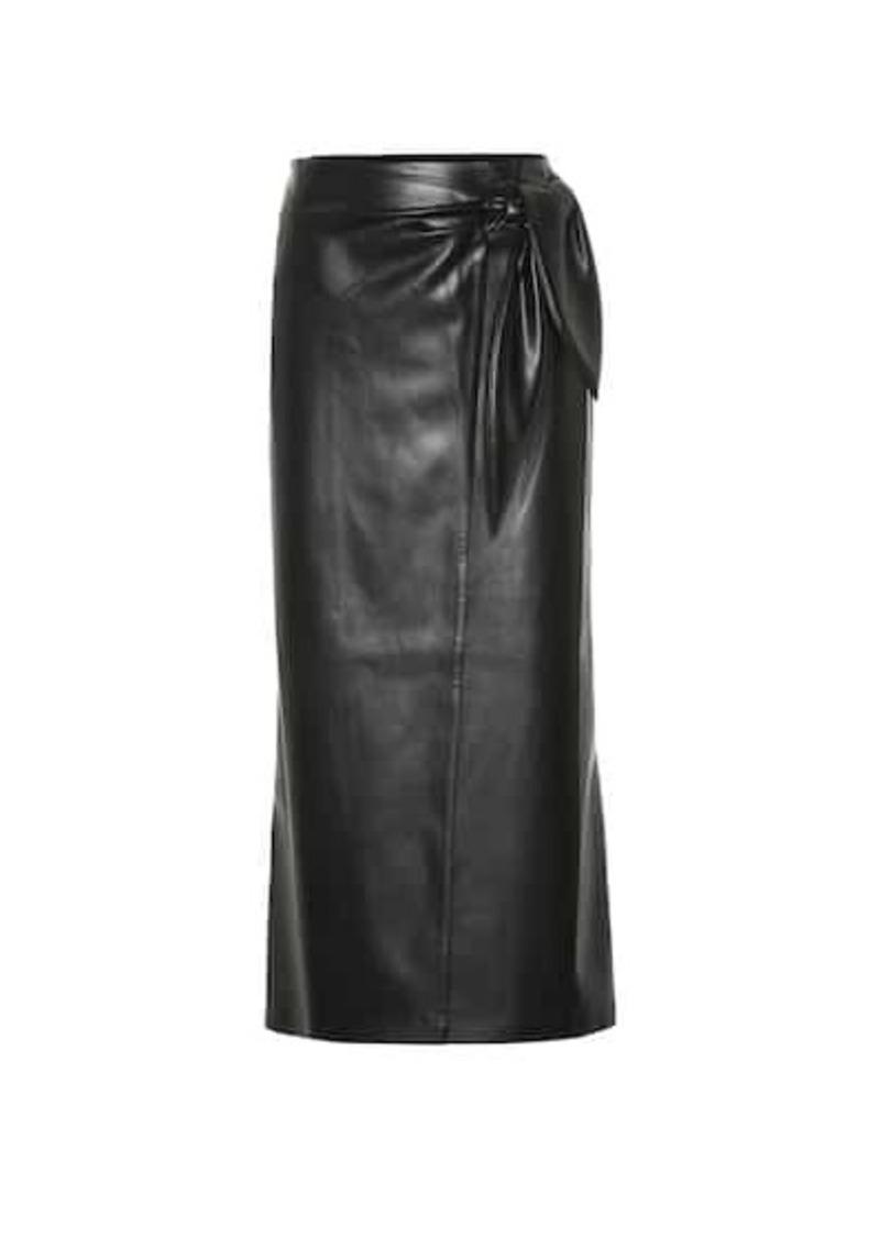 Amas faux leather wrap skirt