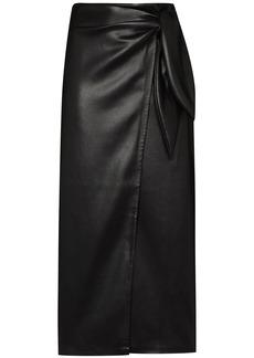 Nanushka Amas wrap-effect midi skirt