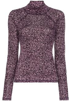 Nanushka animal intarsia knitted top