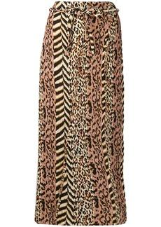 Nanushka Indira animal print skirt
