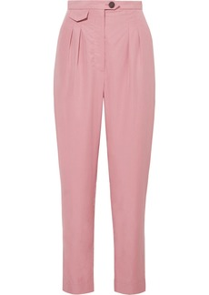 Nanushka Asha Pleated Lyocell-blend Straight-leg Pants