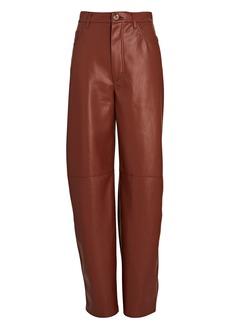 Nanushka Barrel Leg Vegan Leather Pants