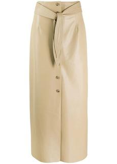 Nanushka belted pencil skirt