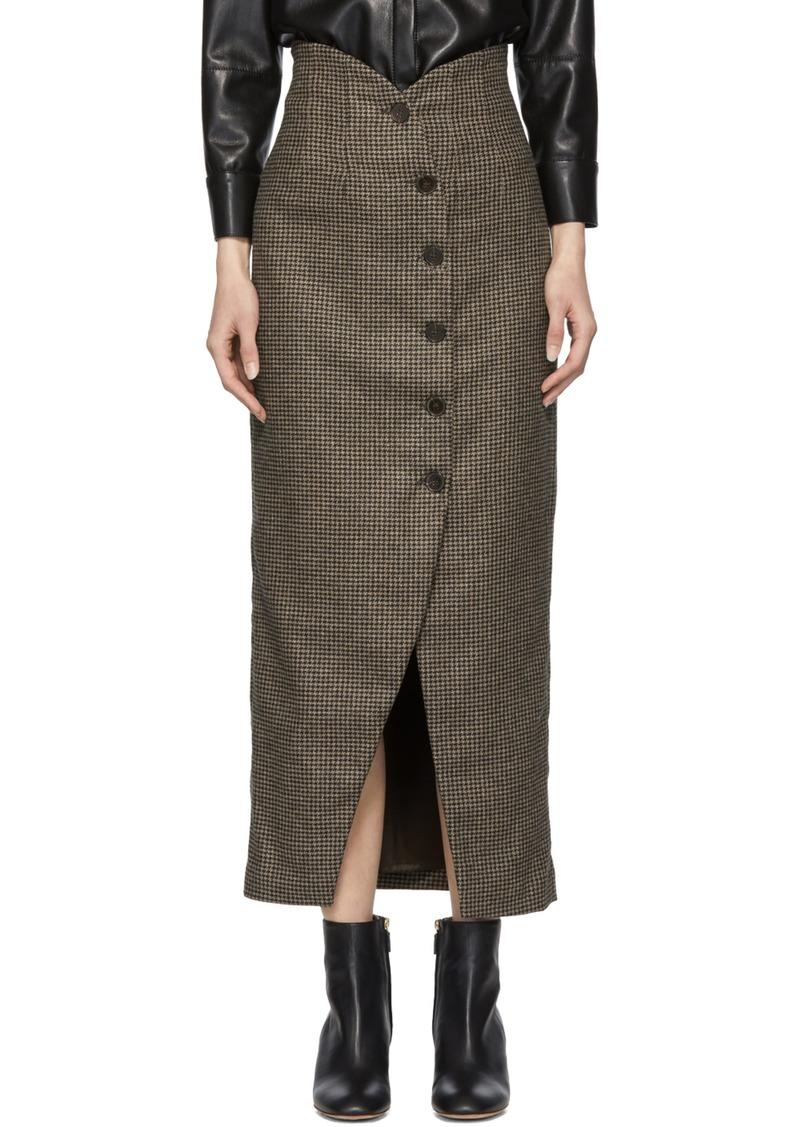 adc9093d5a Nanushka Black Houndstooth Sari Skirt | Skirts