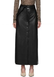 Nanushka Black Vegan Leather Arfen Skirt