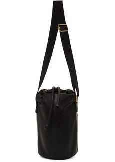 Nanushka Black Vegan Leather Bosc Bucket Bag