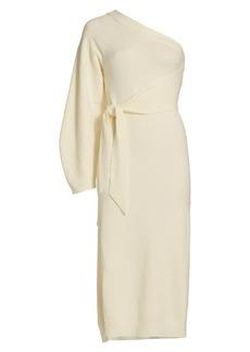 Nanushka Cedro One-Shoulder Knit Dress