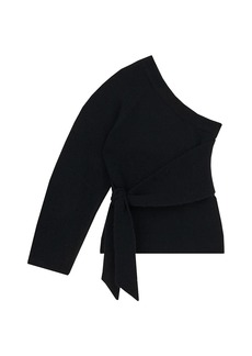 Nanushka Cleto One-Sleeve Asymmetric Sweater