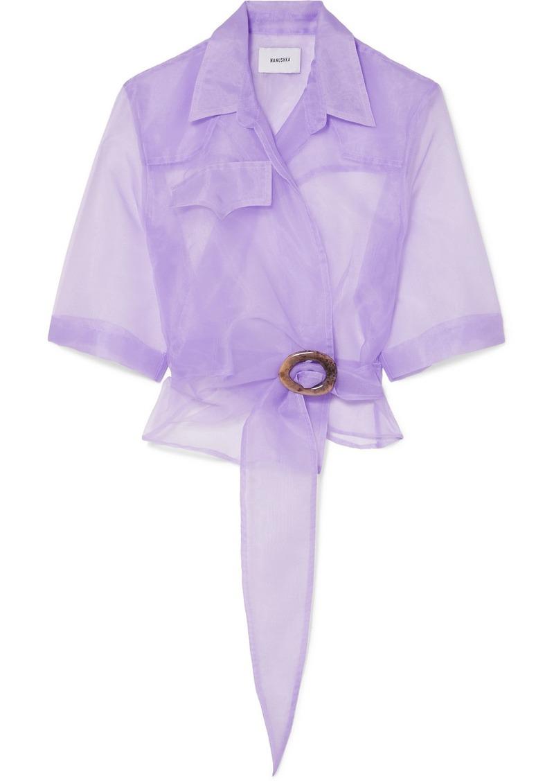 Dalas Organza Wrap Shirt