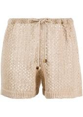 Nanushka drawstring knitted shorts