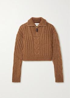 Nanushka Eria Cropped Cable-knit Sweater
