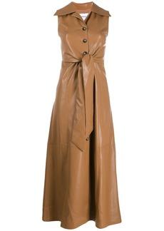 Nanushka faux leather midi dress