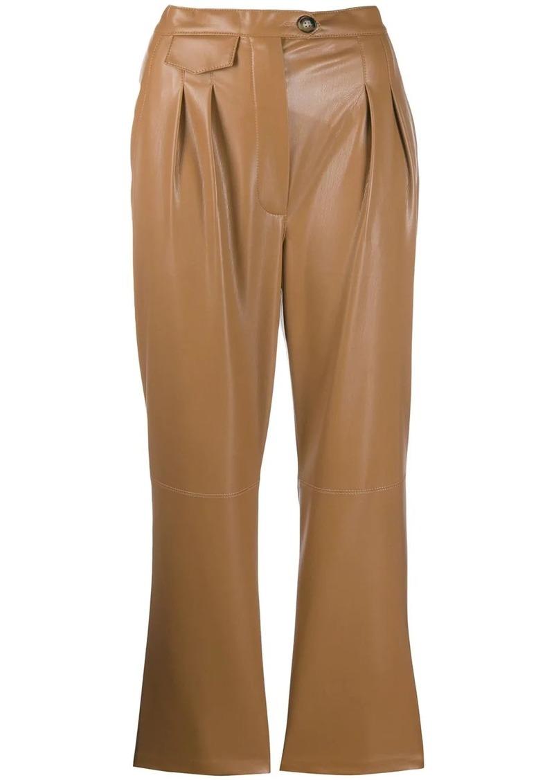Mitsu vegan leather trousers