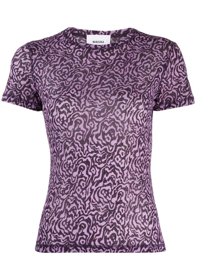 Nanushka graphic print T-shirt