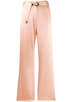Nanushka high-waisted textured trousers