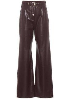 Nanushka Kisa faux leather wide-leg pants