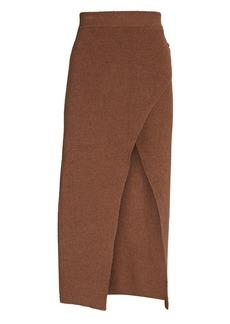 Nanushka Knit Midi Wrap Skirt