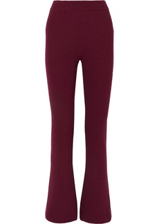 Nanushka Leba Ribbed-knit Flared Pants