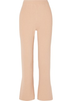 Nanushka Leba Cropped Ribbed-knit Straight-leg Pants