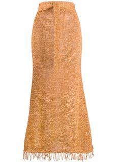 Nanushka Loose Knit A-line skirt
