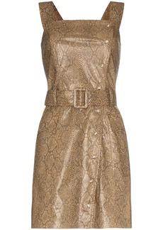 Nanushka Lorena vegan leather mini dress