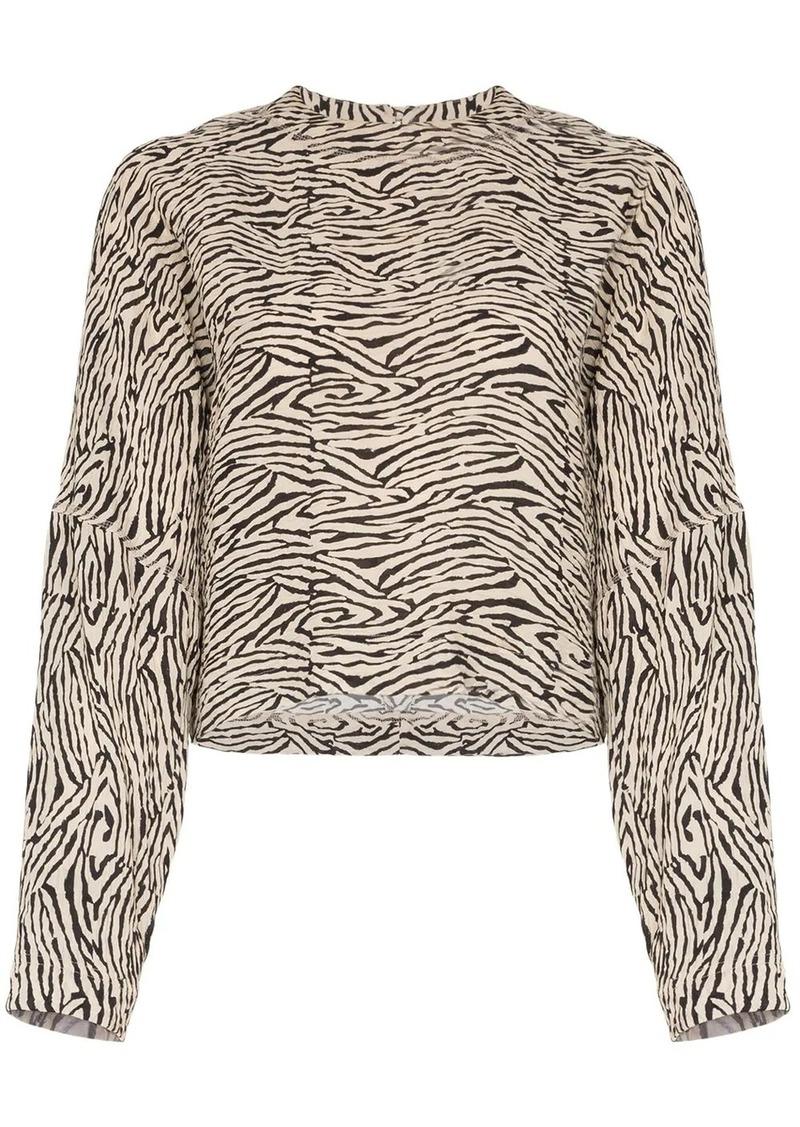 Nanushka Louise zebra-print blouse