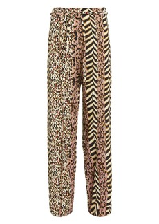 Nanushka Luma '60's Animal Print Pants