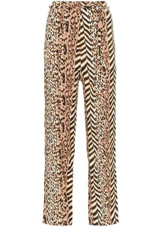 Nanushka Luma animal-print trousers