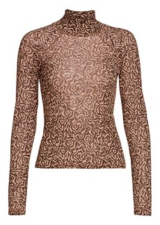 Nanushka Madi Print Turtleneck Top