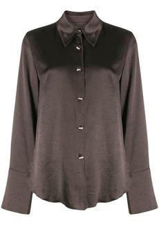 Nanushka Mandine pearlescent button shirt