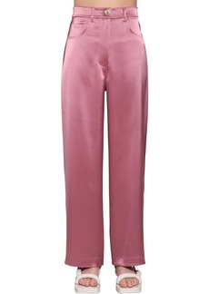 Nanushka Marfa High Waist Satin Pants
