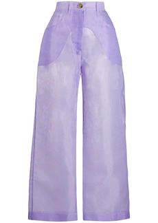 Nanushka Marfa sheer trousers