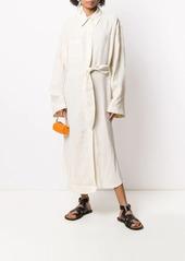 Nanushka Mona crinkled shirt dress
