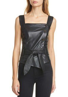 Nanushka Asya Vegan Leather Top