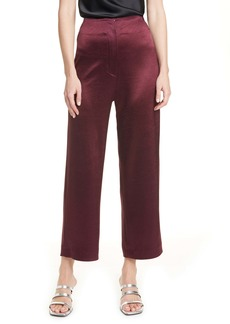 Nanushka Caribe Satin Crop Wide Leg Pants