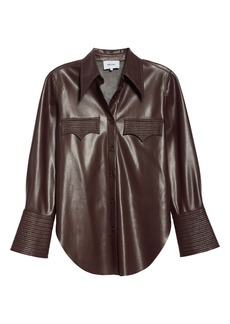 Nanushka Elpi Faux Leather Shirt