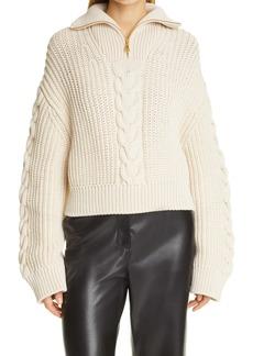 Nanushka Eria Cable Knit Sweater