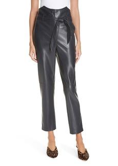 d139669f8c93 Nanushka Ethan Tie Waist Faux Leather Pants