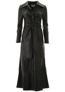Nanushka Faux Leather Tarot Dress