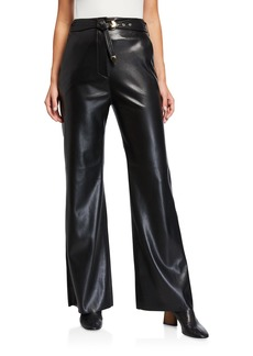 Nanushka Kisa Vegan Leather Belted Pants