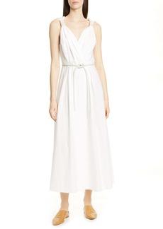 Nanushka Lilith Belted Cotton Maxi Dress
