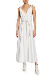 Nanushka Lilith Sleeveless Poplin Maxi Dress