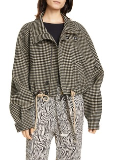 Nanushka Logan Double Face Wool & Silk Jacket