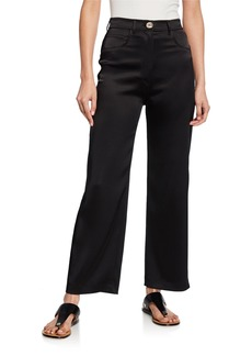Nanushka Marfa Wide-Leg Satin Pants