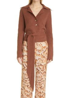 Nanushka Rosalie Tie Front Sweater