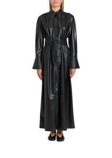 Nanushka Rosana Pinafore Dress In Vegan Leather